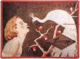 Blechschild Trumpf Schokolade Pfau Werbeschild Blech Schild Nostalgieschild