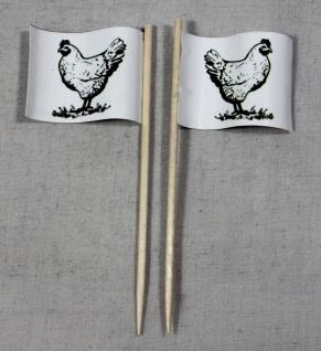 Party-Picker Flagge Huhn Hähnchen Geflügel Papierfähnchen in Spitzenqualität ...