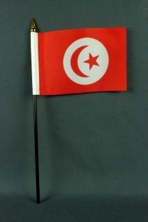 Kleine Tischflagge Tunesien 10x15 cm optional mit Tischfähnchenständer