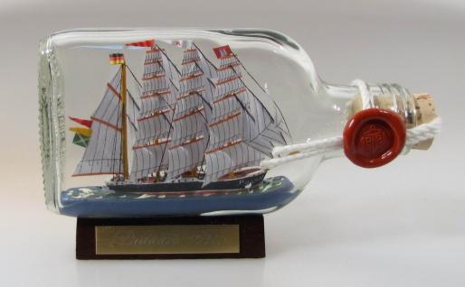 Passat Buddelschiff Flachmann 0, 1 Liter ca. 14x7 cm Buddelschiff Flaschenschiff