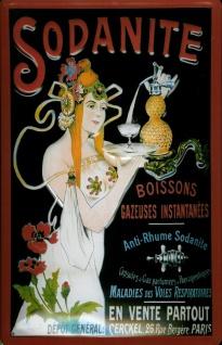 Blechschild Sodanite Rheumamittel Pharma Paris Schild retro Werbeschild Nosta...