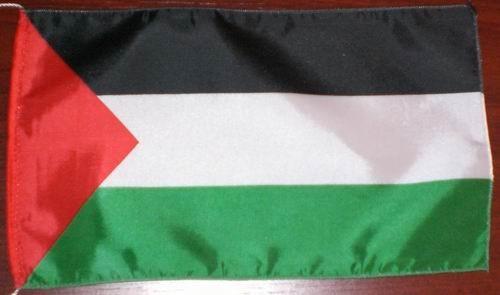 Tischflagge Palästina 25x15 cm optional mit Holz- oder Chromständer Tischfahn...