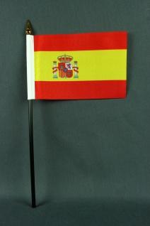 Kleine Tischflagge Spanien 10x15 cm optional mit Tischfähnchenständer