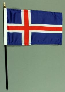 Tischflagge Island 15x25 cm BASIC optional mit Tischflaggenständer