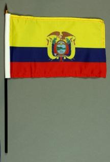Tischflagge Ecuador 15x25 cm BASIC optional mit Tischflaggenständer