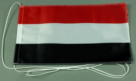 Tischflagge Jemen 25x15 cm optional mit Holz- oder Chromständer Tischfahne Ti...