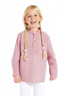 Kinder Sommer Fischerhemd rot weiß gestreift Kinderkleidung Hemd