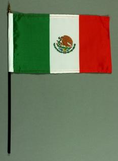 Tischflagge Mexiko 15x25 cm BASIC optional mit Tischflaggenständer