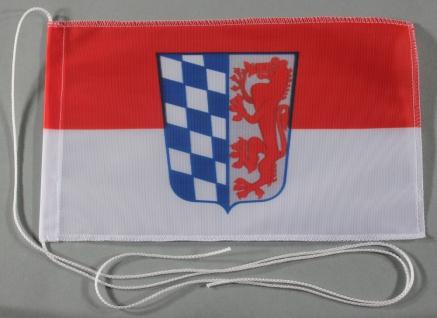 Tischflagge Niederbayern Nieder Bayern 25x15 cm optional mit Holz- oder Chrom...