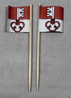 Party-Picker Flagge Obwalden Kanton Schweiz Papierfähnchen in Spitzenqualität...