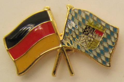 Bayern / Deutschland Freundschafts Pin Anstecker Flagge Fahne Nationalflagge