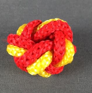 Makrameeknoten gelb / rot für Halstuch