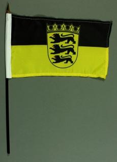Tischflagge Baden Württemberg 15x25 cm BASIC optional mit Tischflaggenständer
