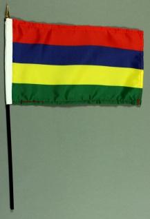 Tischflagge Mauritius 15x25 cm BASIC optional mit Tischflaggenständer