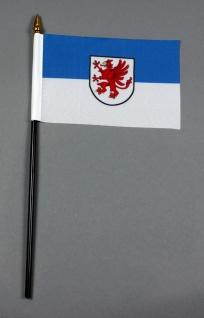 Kleine Tischflagge Vorpommern 10x15 cm optional mit Tischfähnchenständer