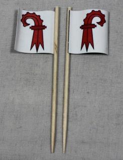 Party-Picker Flagge Basel Land Kanton Schweiz Papierfähnchen in Spitzenqualit...