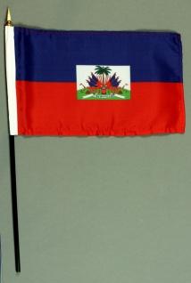 Tischflagge Haiti 15x25 cm BASIC optional mit Tischflaggenständer
