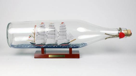 Passat 3 Liter runde Asbach - Flasche Buddelschiff Flaschenschiff