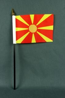Kleine Tischflagge Mazedonien 10x15 cm optional mit Tischfähnchenständer
