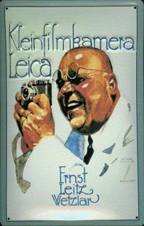Blechschild Nostalgieschild Kleinbild Kamera Leica Leitz Wetzlar