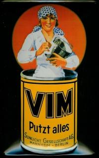 Blechschild Vim putzt alles Scheuerpulver Schild retro Werbeschild Nostalgies...