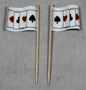 Party-Picker Flagge Spielkarten Poker Skat Papierfähnchen in Spitzenqualität ...