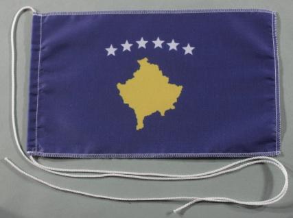 Tischflagge Kosovo 25x15 cm optional mit Holz- oder Chromständer Tischfahne T...