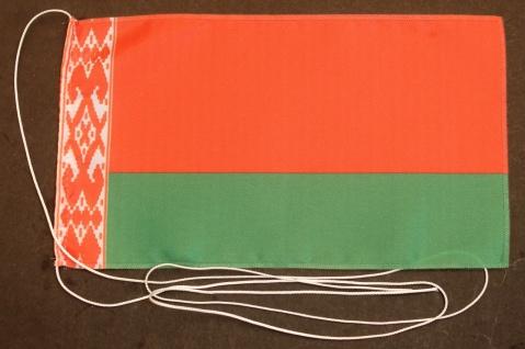 Tischflagge Weißrussland 25x15 cm optional mit Holz- oder Chromständer Tischf...