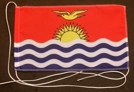 Tischflagge Kiribati 25x15 cm optional mit Holz- oder Chromständer Tischfahne...