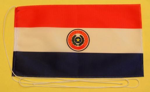 Tischflagge Paraguay 25x15 cm optional mit Holz- oder Chromständer Tischfahne...