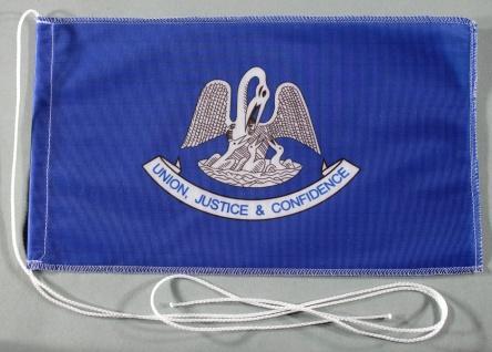 Tischflagge Louisiana USA Bundesstaat US State 25x15 cm optional mit Holz- od...