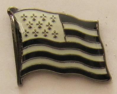Pin Anstecker Flagge Fahne Bretagne Frankreich Flaggenpin Button Badge Flagge...