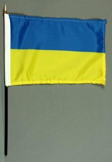 Tischflagge Ukraine 15x25 cm BASIC optional mit Tischflaggenständer