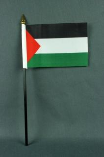 Kleine Tischflagge Palästina 10x15 cm optional mit Tischfähnchenständer