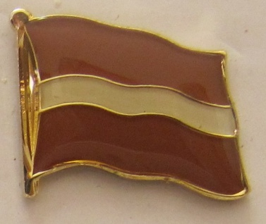 Pin Anstecker Flagge Fahne Lettland Nationalflagge
