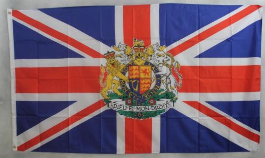 Flagge Fahne : Großbritannien mit Wappen Union Jack