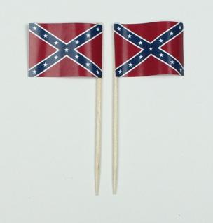 Party-Picker Flagge Südstaaten USA Bundesstaat Papierfähnchen in Spitzenquali...