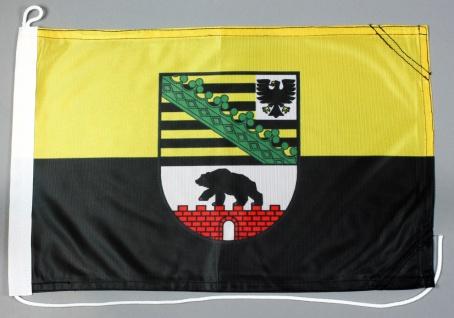 Bootsflagge Sachsen Anhalt 30x45 cm Motorradflagge Bootsfahne