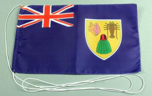 Tischflagge Turks Caicos Inseln 25x15 cm optional mit Holz- oder Chromständer...