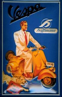 Blechschild Vespa Hoffmann Motorroller Schild Nostalgieschild Moped Werbung