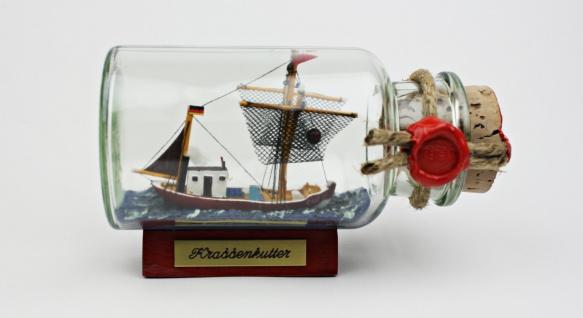 Krabbenkutter Nordsee rundes Gewürzglas 0, 25 Liter Buddelschiff Flaschenschiff