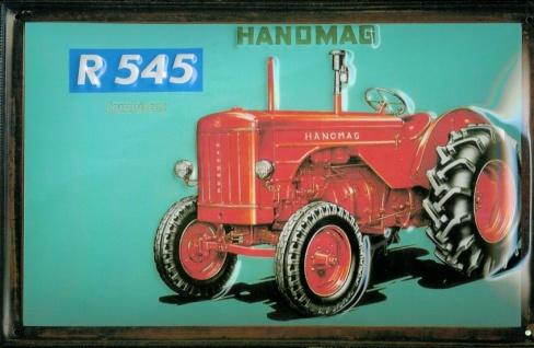 Blechschild Hanomag R 545 Traktor Nostalgieschild Schild Trecker Werbeschild
