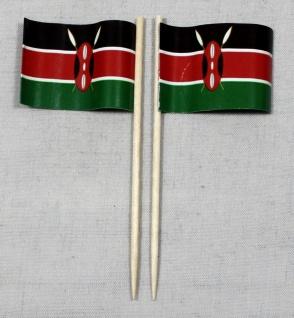 Party-Picker Flagge Kenia Papierfähnchen in Spitzenqualität 50 Stück Beutel