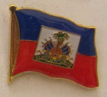 Haiti Pin Anstecker Flagge Fahne Nationalflagge