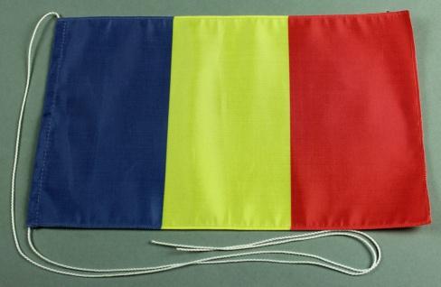 Tischflagge Tschad 25x15 cm optional mit Holz- oder Chromständer Tischfahne T...