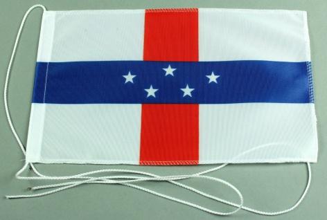 Tischflagge Niederländisch Antillen 25x15 cm optional mit Holz- oder Chromstä...