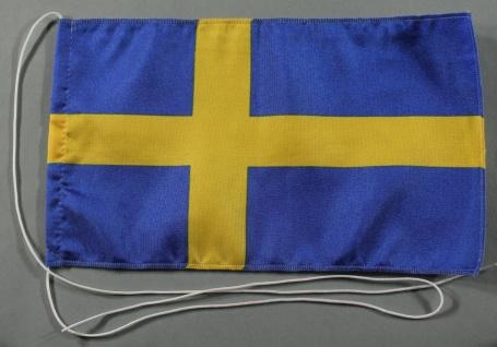 Tischflagge Schweden 25x15 cm optional mit Holz- oder Chromständer Tischfahne...