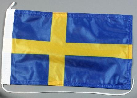 Bootsflagge : Schweden 30x20 cm Motorradflagge