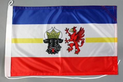 Bootsflagge Mecklenburg Vorpommern 30x45 cm Motorradflagge Bootsfahne