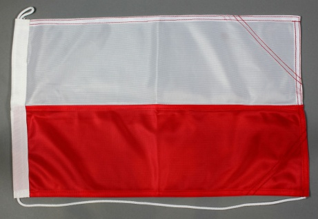 Bootsflagge Polen 30x45 cm Motorradflagge Bootsfahne